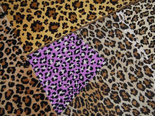 Moquette motif léopard